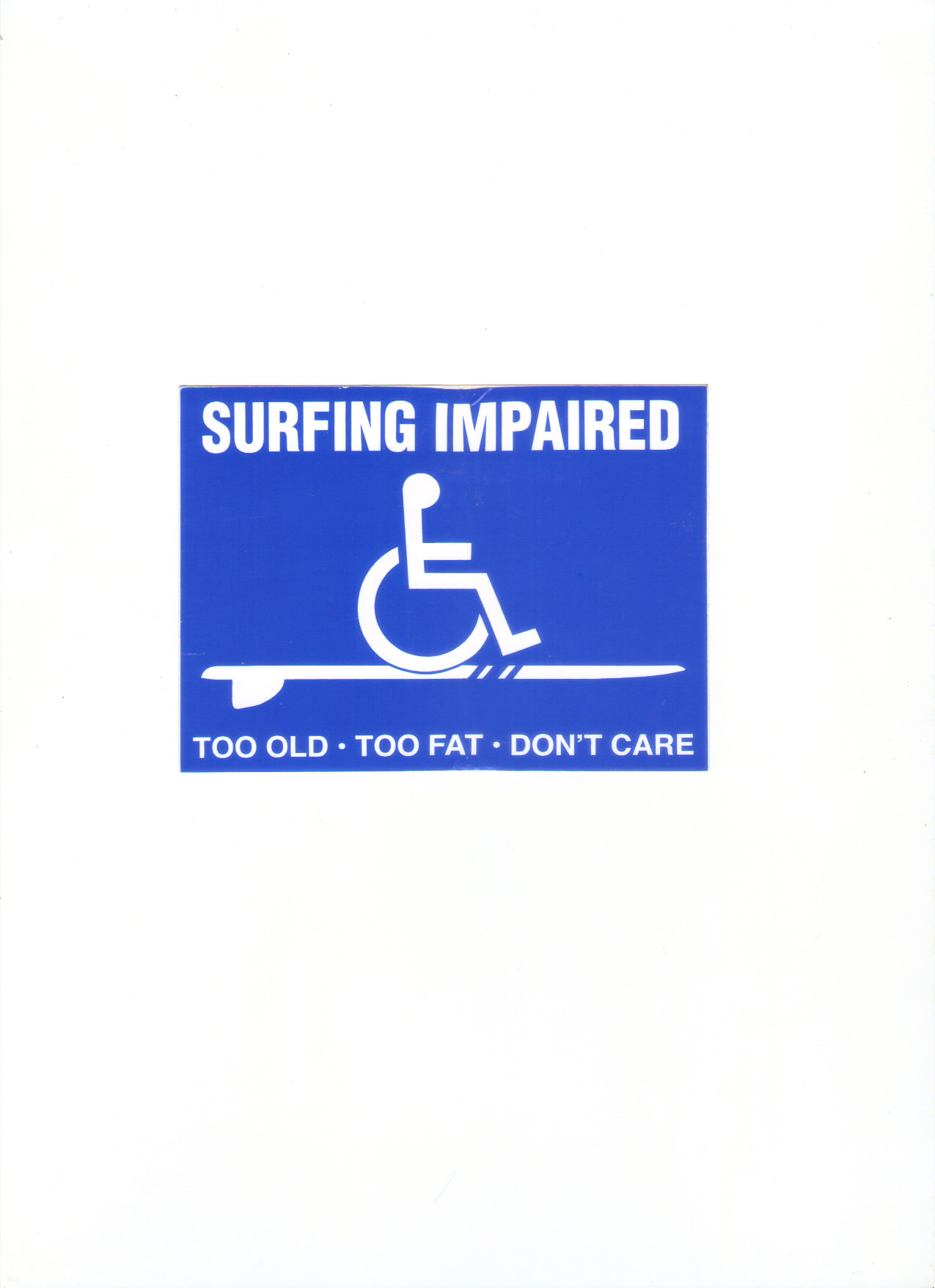 Surfing Impaired Sticker 1991Cool Surf Stickers