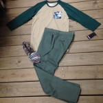 Go green with this combo from Hurley along with some Tom's shoes.