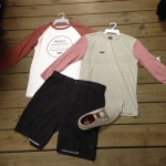 Some nice Raglans from Volcom and RVCA with the newest colorway in the Motley from Globe, combined with some light weight Amphibious shorts from Oakley.