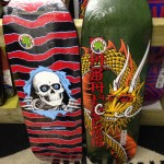 "Rip it up on one of these Powell-Peralta decks!  (Ripper 10"" x 31.75"", Cab Ban This Dragon 9.625"" x 32"")"