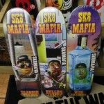 "All new SK8 mafia decks from the Toe Up series! (8.19""x32"", 8.0""x32"", 8.25""x32.25"")"