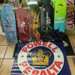 We just got in a bunch of Powell Peralta decks.  As you can see, there's plenty of variety here.  Freestyle, early 80's, late 80's, modern, it's all here.  Whether they be for wall hanging or shredding, there's plenty of variety here.