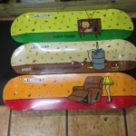 "These are some classy decks right here from enjoi! All decks resin 7 construction.  (8.25"" x 31.8"", 8.0""x 31.6"", 8.10"" x 31.8"")"