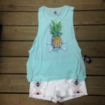 This Volcom shirt with the most bad ass pineapple ever, goes great with these Volcom shorts!