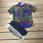 Here's a colorful shirt from Volcom along with some Quiksilver boardshorts for the youth!