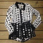 Get some polka dot prints with this top and shorts combo from Fox!