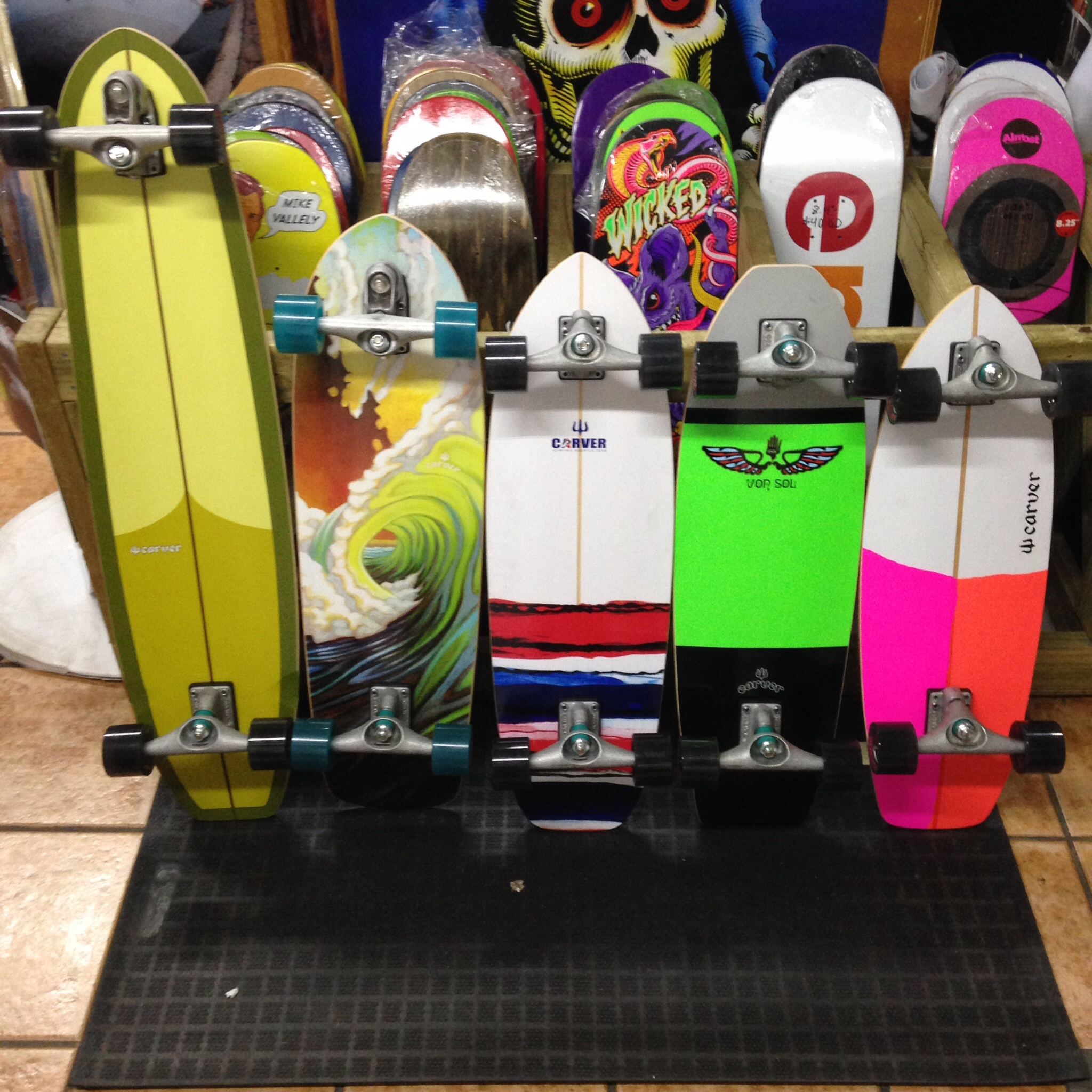 All new Carver skateboards!
