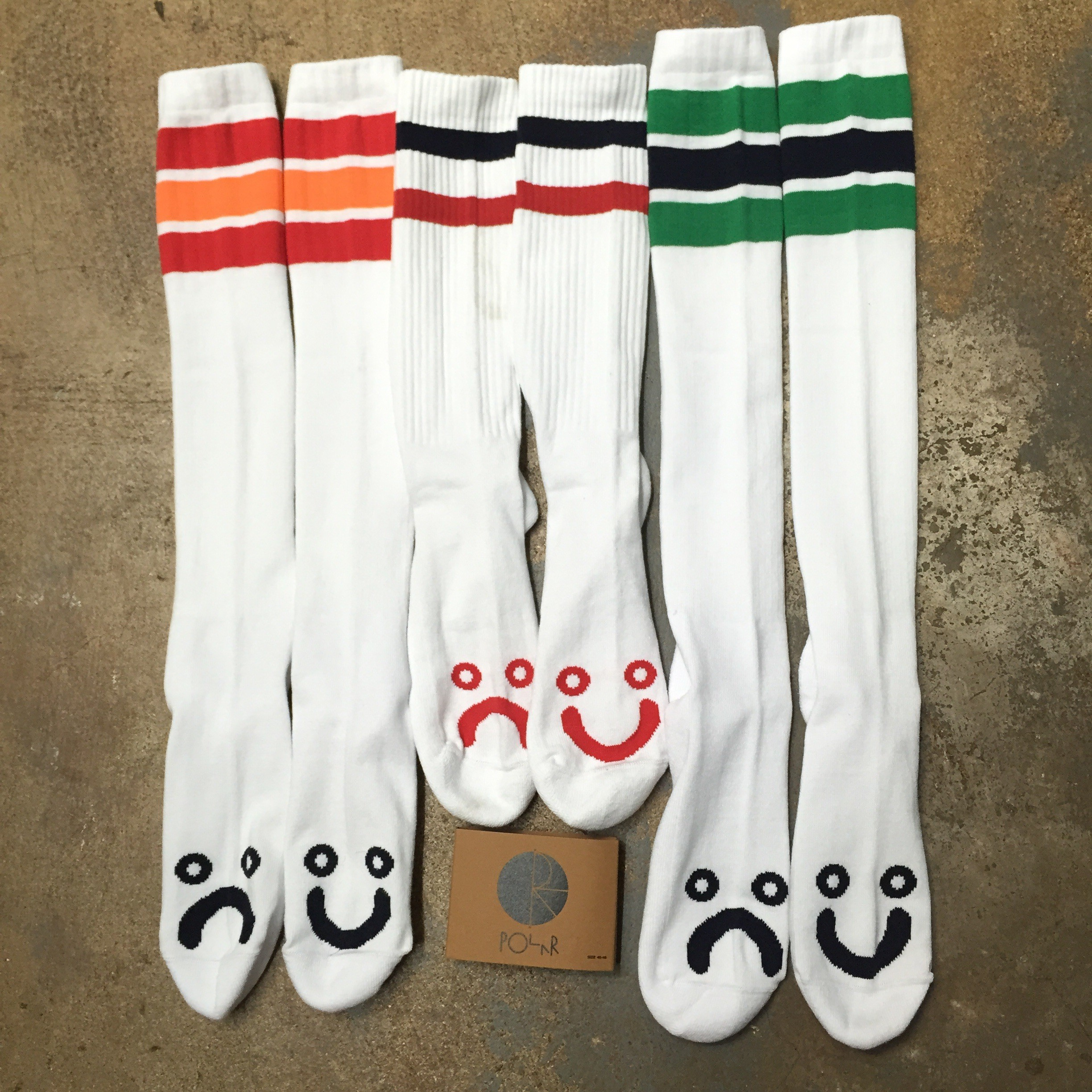 Polar happy/sad socks!