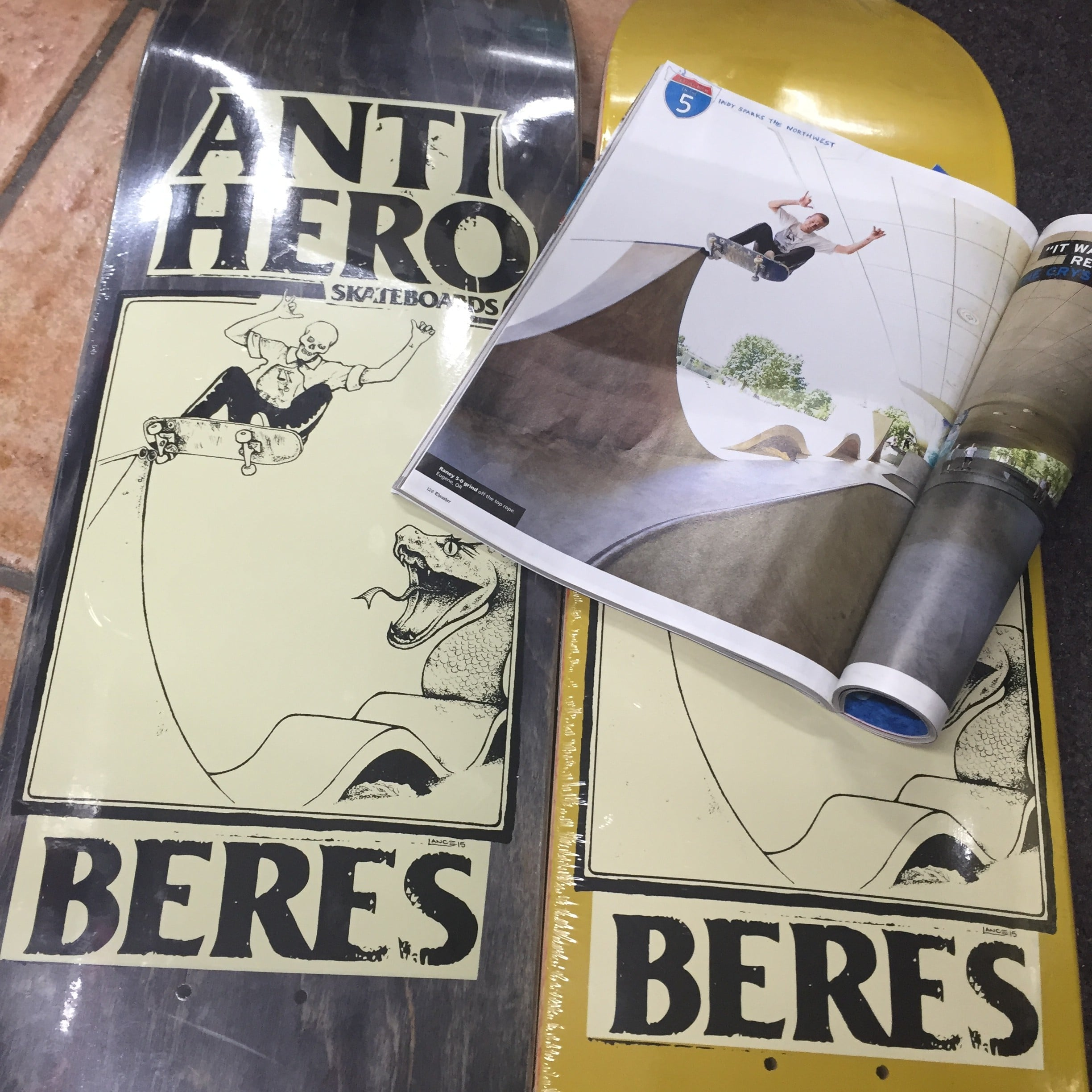 AntiHero Raney Beres pro model with artwork by Lance mountain