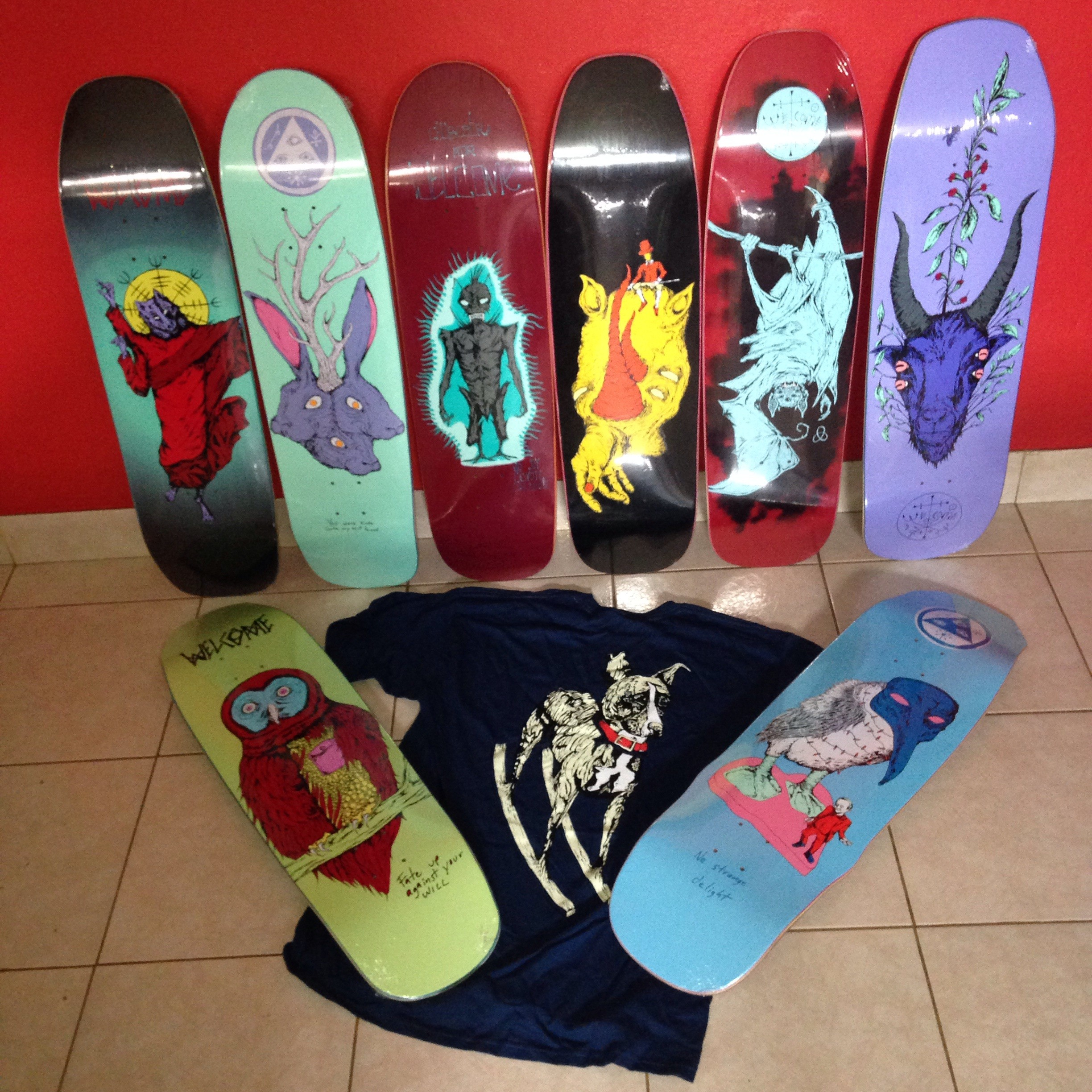 All new welcome skateboards from the Autumn peculiarities collection!