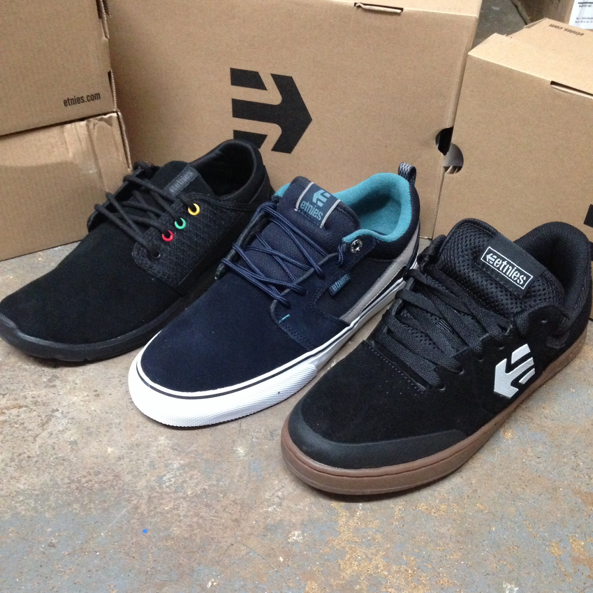 Etnies  scout, Rap CT, and Marana