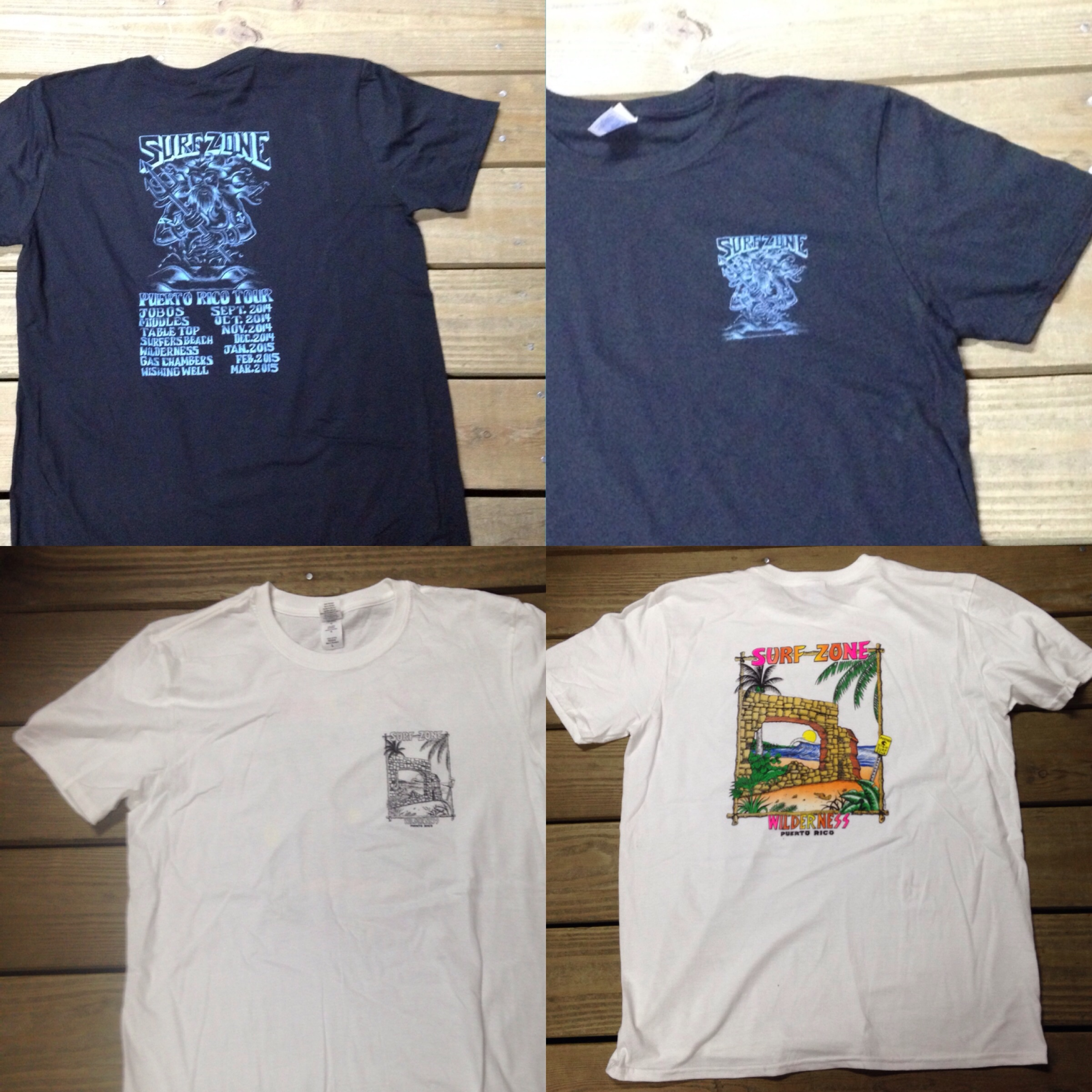Surf Zone 2015 tour and Wilderness t-shirts!