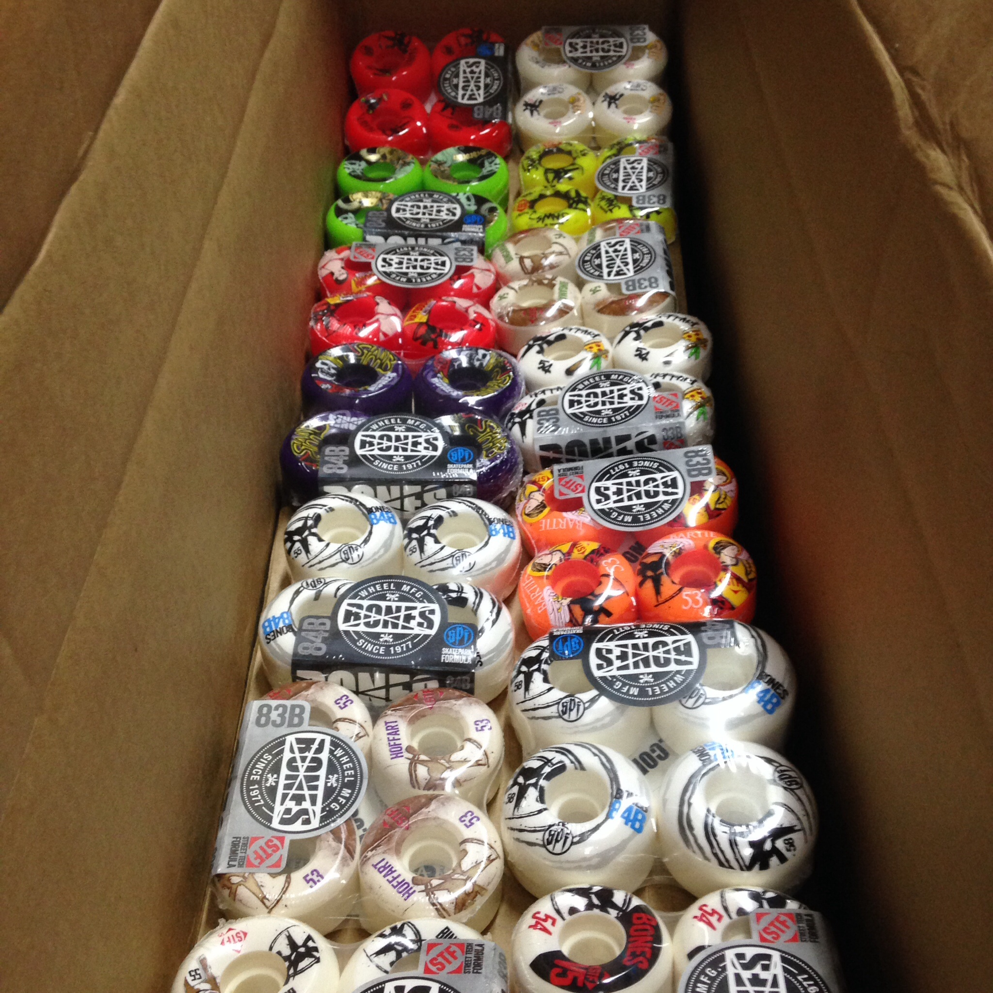 Bones wheels! (Sizes 53 to 60mm, STF and SPF!)