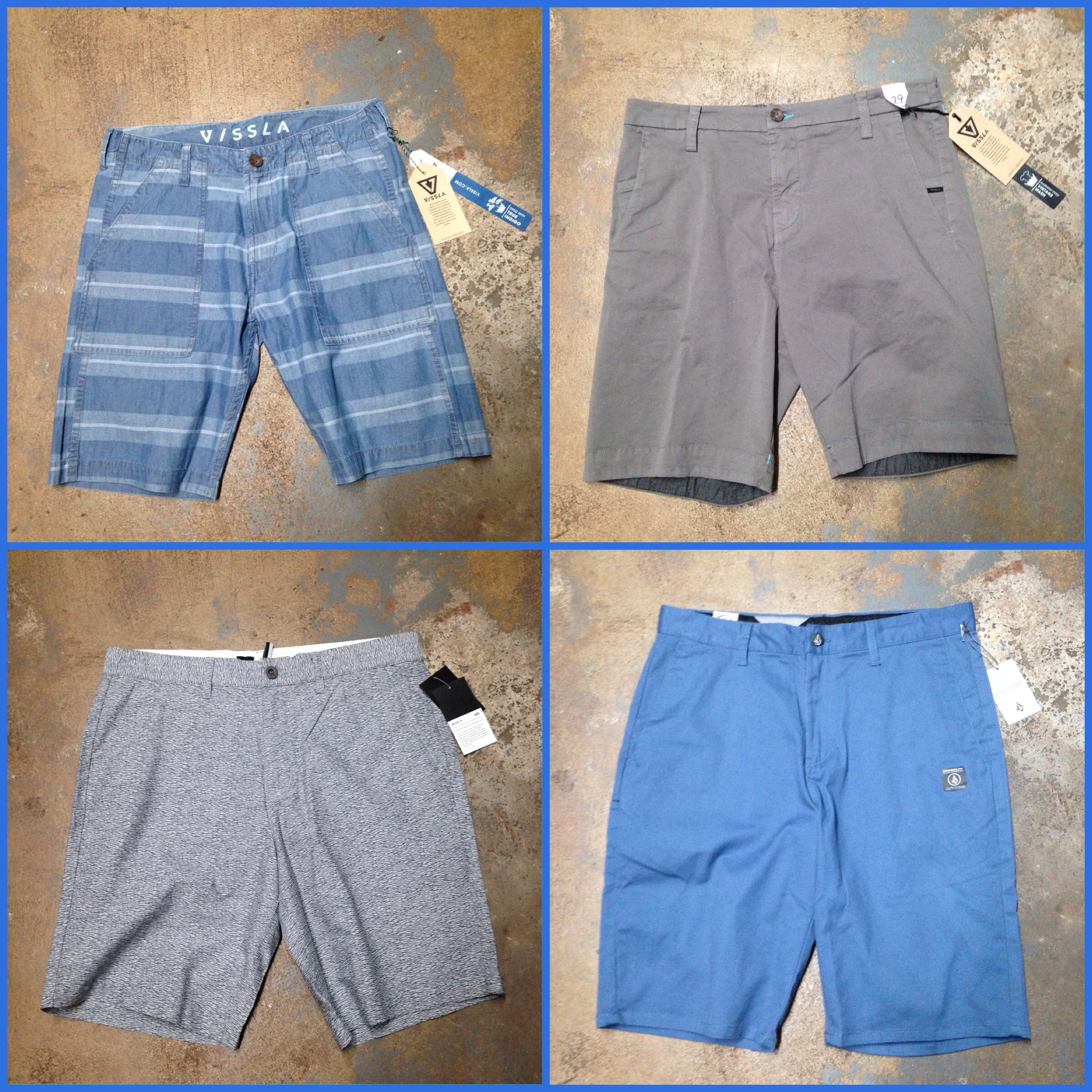 Shorts from Vissla, RVCA, and Volcom!